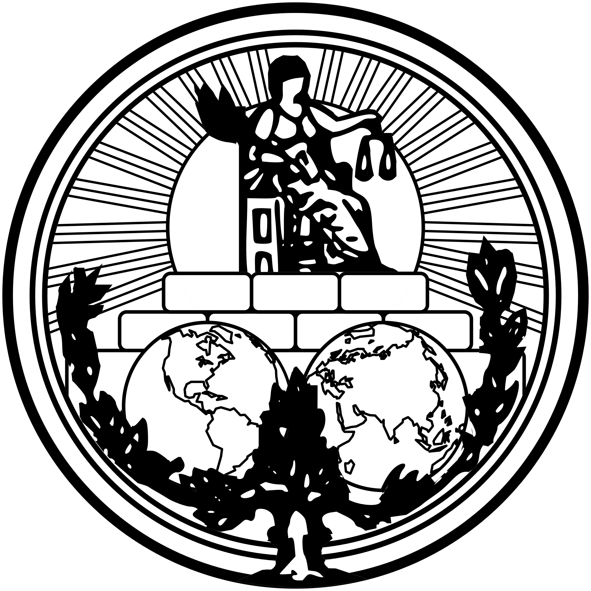 ICJ Logo - Richter des Internationalen Gerichtshofs