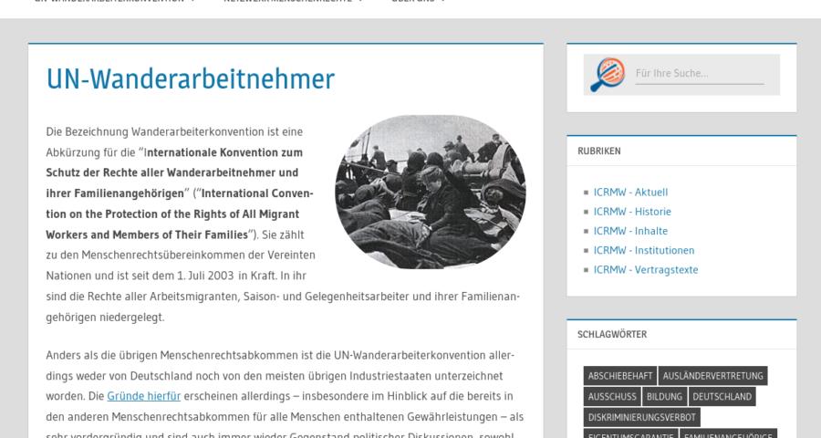 UN-Wanderarbeiterkonvention